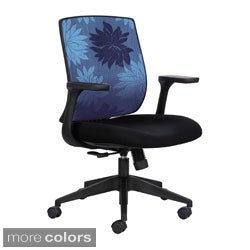 Safco Ergonomic Rolling Chair with Adjustable Arms