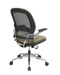 Office Star Professional Breathable Mesh Back Leather Chair