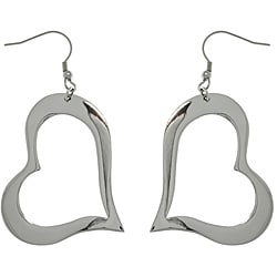 CGC Stainless Steel Open Heart Drop Hook Earrings