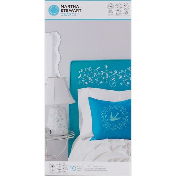 Martha Stewart Large Tendril Stencils with 10 Designs (3 Sheets/ Pack)