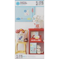 Martha Stewart Large Playroom Stencils with 46 Designs (3 Sheets/ Pack)