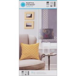 Martha Stewart Large Arabesque Stencils with 11 Designs (3 Sheets/ Pack)