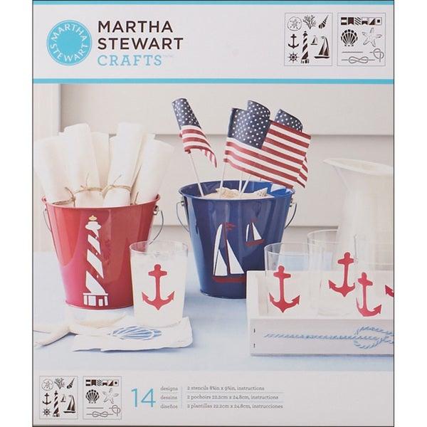 Martha Stewart Nautical Study Medium Stencils (Pack of 2)
