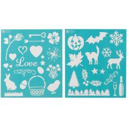 Martha Stewart Holiday Icons Medium Stencils (Pack of 2)