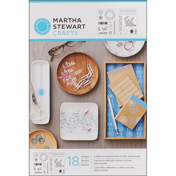 Martha Stewart Adhesive Fair Isle Dots Stencils (2 Sheets)