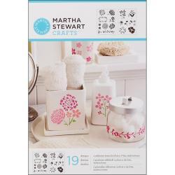 Martha Stewart Adhesive Blossoms Stencils (2 Sheets)