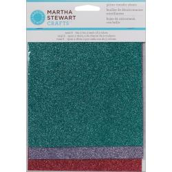Martha Stewart Gemstones Silver, Gold and Black Glitter Sheets (Pack of 6)