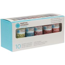 Martha Stewart Glitter 10-Color Acrylic Craft Paint Set
