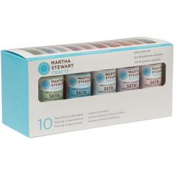 Martha Stewart Satin 10-Color Acrylic Craft Paint Set