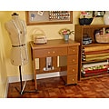 Arrow Sewing Cabinet Auntie Oakley Oak Finish Sewing Table by Exponential