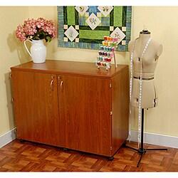 Kangaroo Kabinets Dingo Teak Sewing Storage Cabinet by Exponential