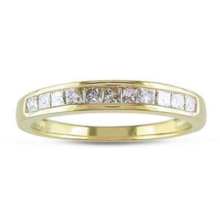 Miadora 14k Yellow Gold 1/2ct TDW Diamond Anniversary Ring (G-H, I1-I2) with Bonus Earrings
