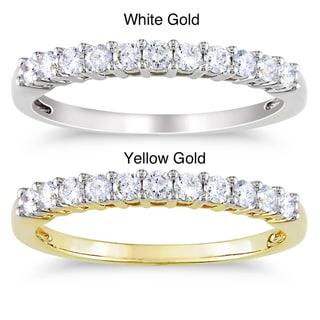 Miadora 14k Gold 1/3ct TDW Certified Diamond Ring (G-H, SI1-SI2) with Bonus Earrings