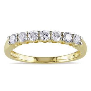 Miadora 14k Two-tone Gold 1/2ct TDW Certified Diamond Anniversary Ring (G-H, SI1-SI2)