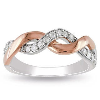 Miadora 10k Two-tone Gold 1/4ct TDW Diamond Ring (H-I, I2-I3)