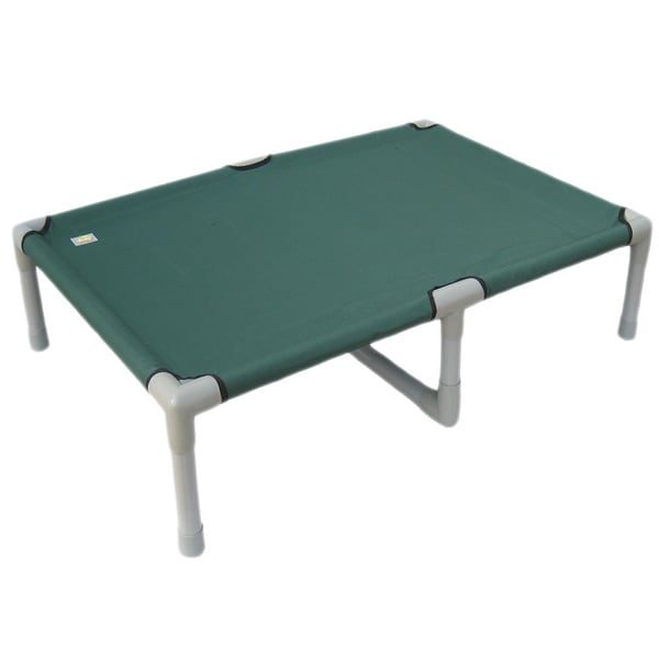 Go Pet Club Indoor/Outdoor 55-inch Green Color PVC/Polyester Pet Cot