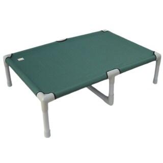 Go Pet Club Indoor/Outdoor 55-inch Green Color PVC/Polyester Pet Cot