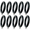 Menagerie Black Curtain Rod Rings (Pack of 10)