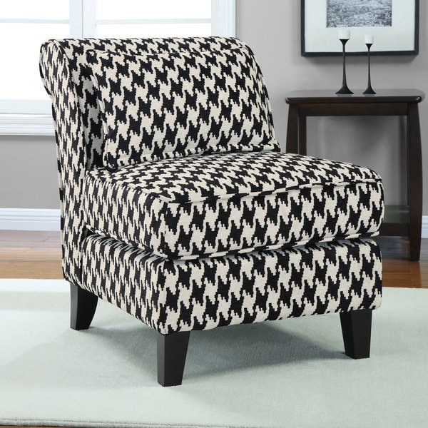 Black and White Houndstooth Grande Slipper Chair