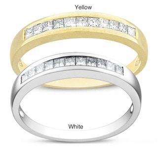 Miadora 14k Gold 1/3ct TDW Princess Diamond Ring (G-H, SI1-SI2)