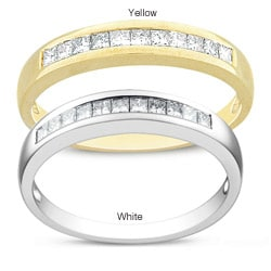 Miadora 14k Gold 1/3ct TDW Princess Diamond Ring (G-H, SI1-SI2)