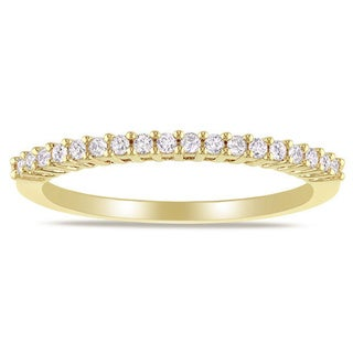 Miadora 14k Gold 1/5ct TDW Diamond Wedding Band (G-H, I1-I2) with Bonus Earrings
