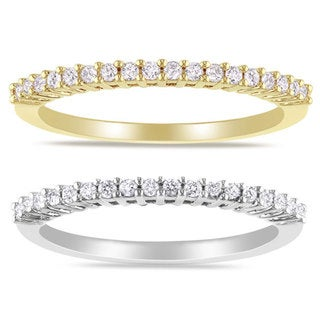 Miadora 14k Gold 1/5ct TDW Diamond Wedding Band (G-H, I1-I2)