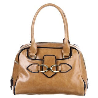 London Fog 'Stutton' Contrast Trim Camel Shoulder Bag