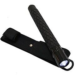 Defender Black Metal 21.5-inch LED Flashlight Baton with Sheath