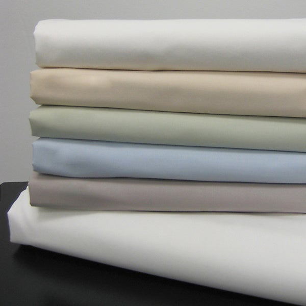 Echelon Home Egyptian California King Cotton Solid Percale Sheet Set