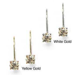 Auriya 14k Gold 1/2ct TDW Diamond Leverback Earrings (K-L, I2)