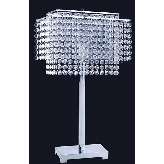 28-inch Crystal Strings Table Lamp