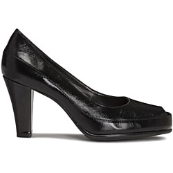 A2 by Aerosoles Women's Black 'Big Ben' Peep-toe Pumps