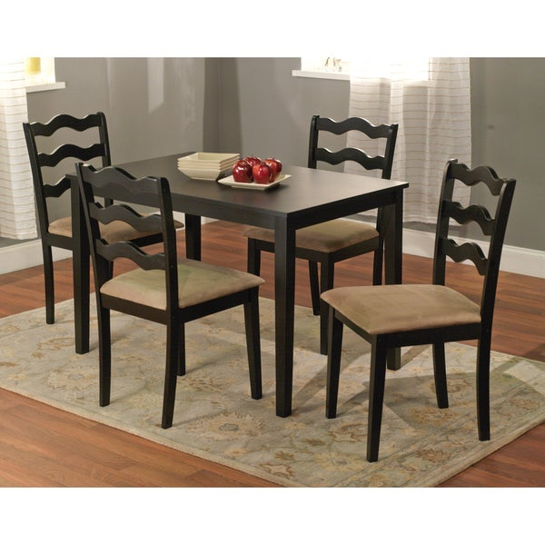 Simple Living Black 5-Piece Riviera Dining Set