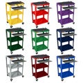 H. Wilson Adjustable Steel Utility Cart With Keyboard Shelf