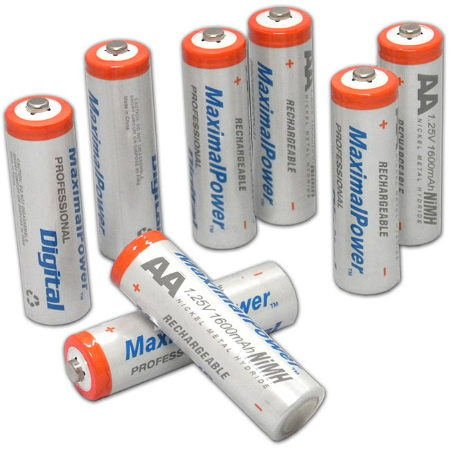 MaximalPower AA Ni-MH 1600mAh Rechargeable Battery (Pack of 8)