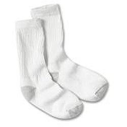 Hanes Women's White Cushion Crew Socks (Pack of 6)