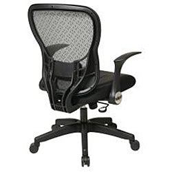 Office Star Deluxe R2 SpaceGrid Chair with Flip Arms