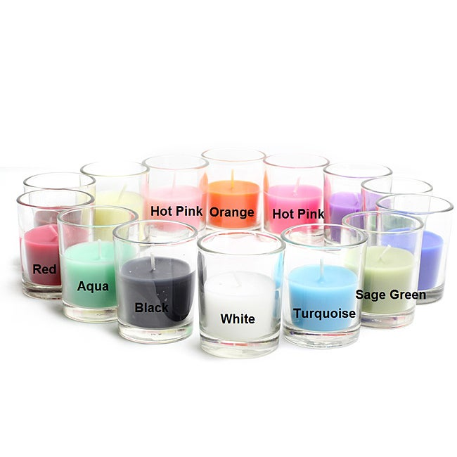 jeco Round Glass 10-hour Votive Candles (Case of 96)