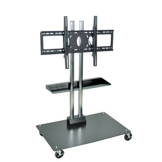 H. Wilson Durable Universal LCD Flat Panel Stand with Shelf