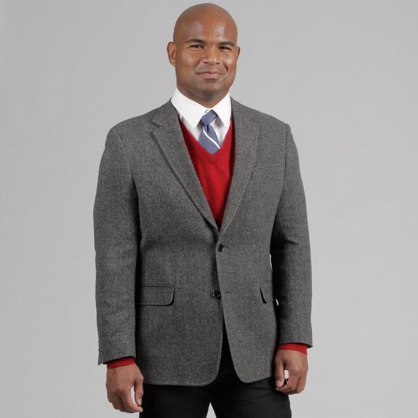 Tommy Hilfiger Men's Grey Herringbone Wool Sportcoat