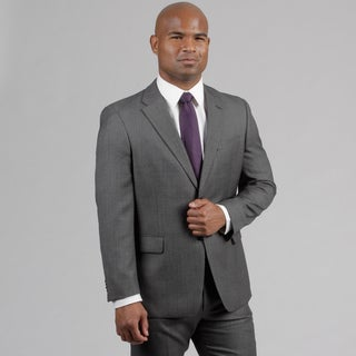 Tommy Hilfiger Men's Dark Grey Birdseye Wool Suit