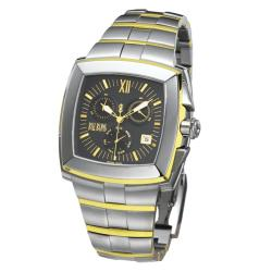 Bill Blass Men's Two-tone Stainless Steel Tetragon Watch
