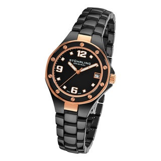 Stuhrling Original Lady Apocalypse Noir Swiss Made Black Ceramic Watch
