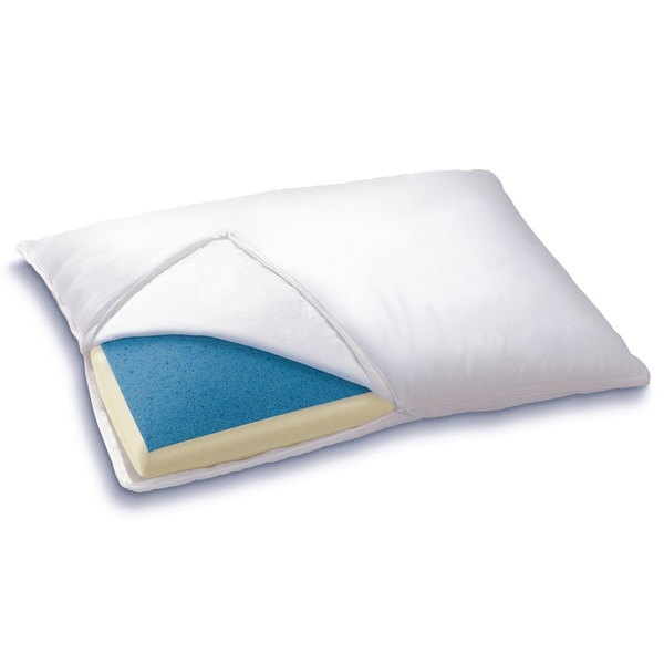 Bodipedic Reversible Gel Memory Foam Cotton Pillow