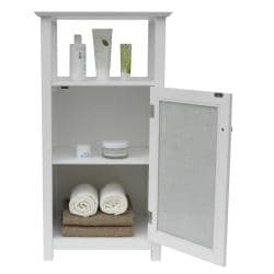Fifth Avenue Silver Mosaic Open Shelf Floor Cabinet