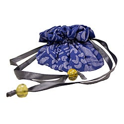 Cotton Signature Mediterranean Blue Jewelry Bag (Kenya)