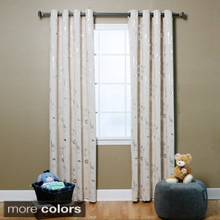 Aurora Home Animal Foil Print Blackout 84-inch Grommet Curtain Panel Pair