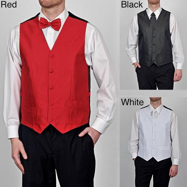 GianFranco Ruffini Men's Big & Tall 4-Piece Full-Back Vest Set