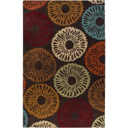 Hand-tufted Contemporary Brown Hupa Wool Abstract Rug (3'3 x 5'3)
